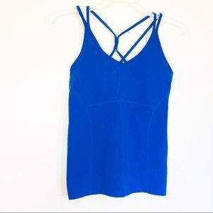 Athleta womens Royal Blue Tank top Strappy
